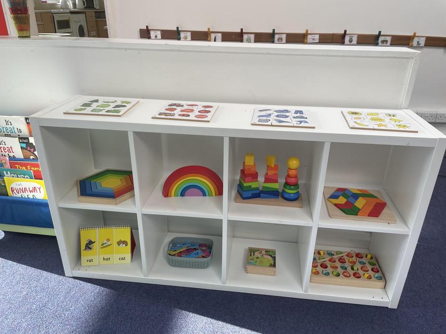Big Room Puzzle Shelves