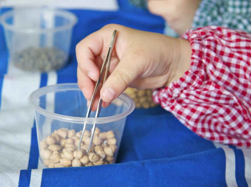 Tweezers- Use tweezers to transfer cereal or pasta
