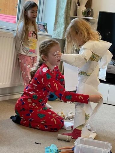 Ella-Rose has been mummifying her sister!