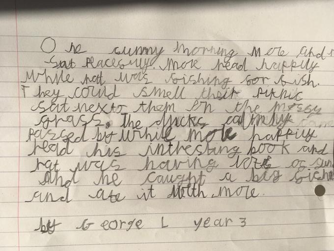 George's Writing - Year 3