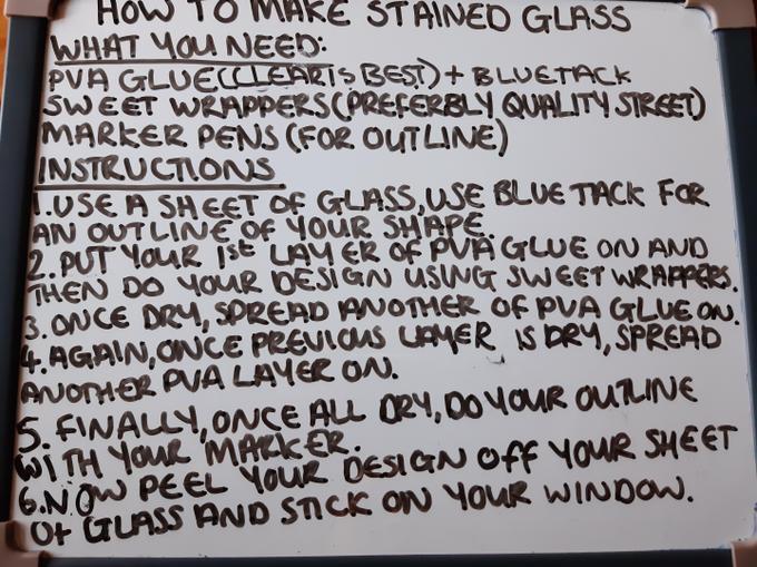 Bobbie's instructions