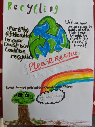 Jemma's colourful recycling poster!