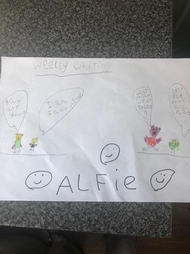 Alfie's Writing - Year 1