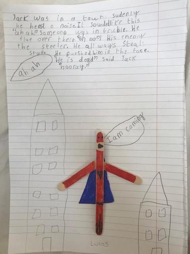 Lucas wrote a superhero story