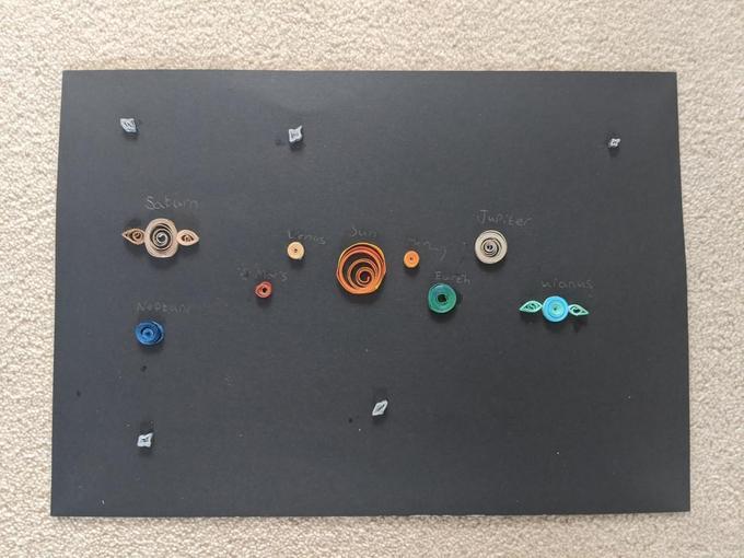 Zoe's beautiful space art!