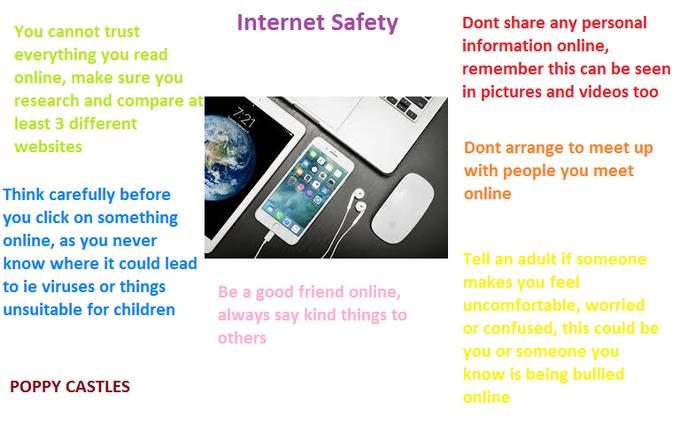 Poppy's Internet Safety Poster