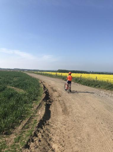 Zack enjoying a 13 mile cycle!