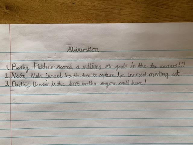 Fletcher has also been working hard on his alliteration.