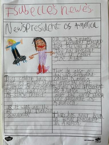 Isabelle has created an article about the new president! Fab.