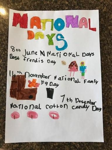 Ivy has been exploring some of her favourite National Days!