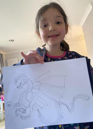 Isabelle has also produced a beautiful dragon...