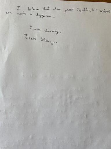 Jack's Persuasive writing - Year 4