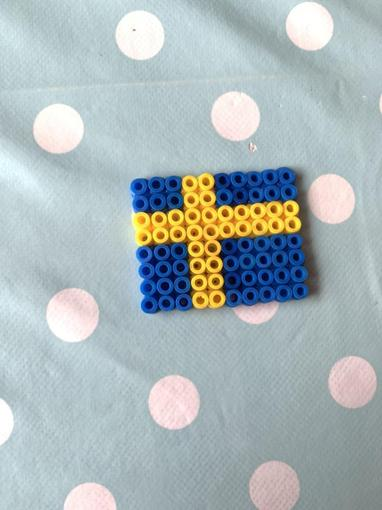 Can you guess which flag Rhys has made?