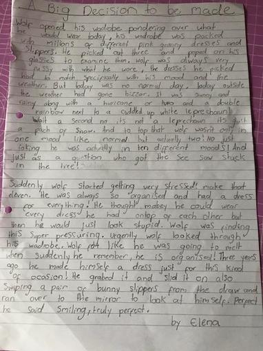 Elena's writing - Year 4