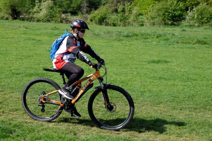Ben enjoying a bike ride