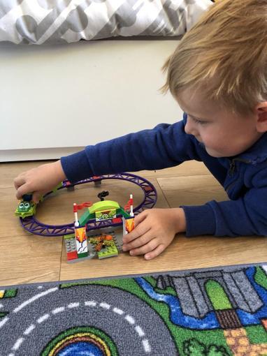 Ollie's Lego rollercoaster