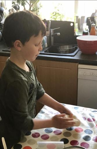Lucas cooking