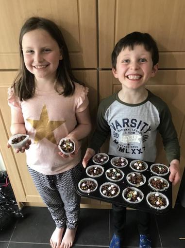 Lucas and Elena have been baking!