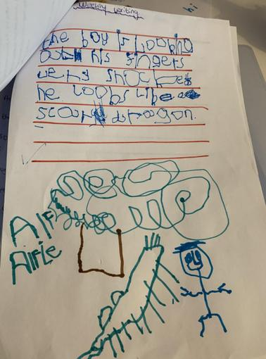 Reception - Alfie's description of the boy