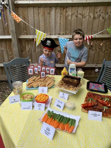 Complete with pirate themed snacks