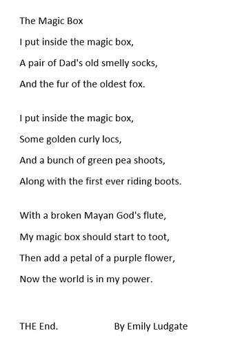 Emily's Poem - Year 3