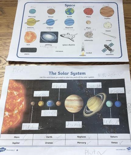 Fleur's space learning