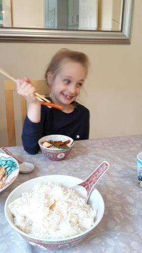 Niamh made egg fu yung