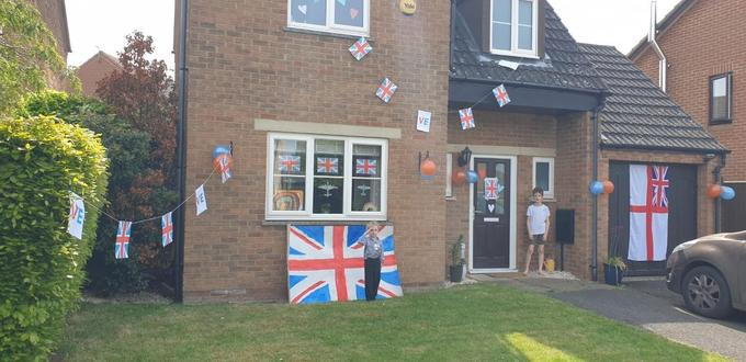 George's house all ready for VE day