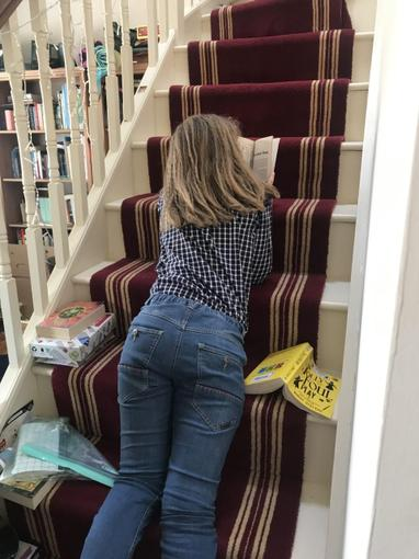 Alice reading in interesting places...