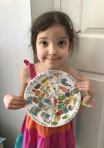 Isabelle's learning about food groups