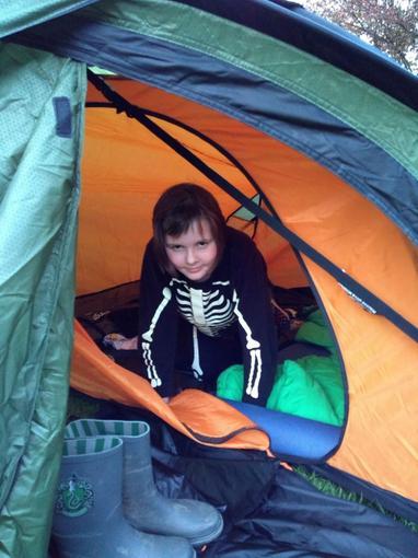 Louise camping!