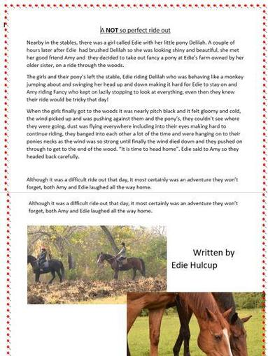 Edie's Writing- Year 5