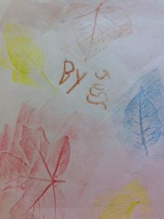 Joss's leaf prints