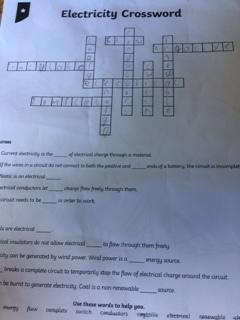 Devon's Electricity crossword