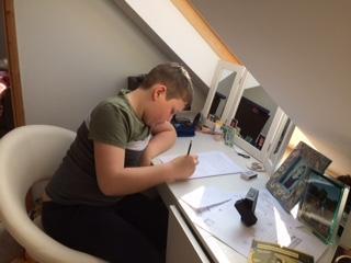 Joss hard at work!