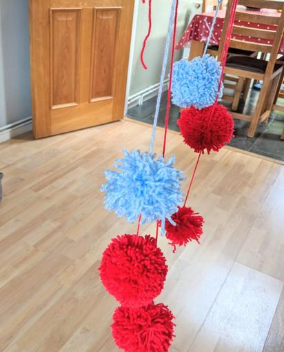 Jemma and her family have made these fab pom poms!