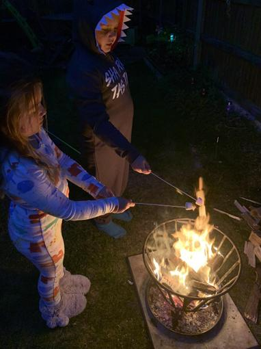 ...roasting marshmallows...