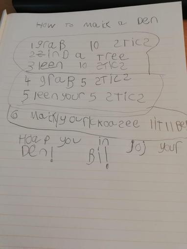 Ollie's Instructions - Year 1