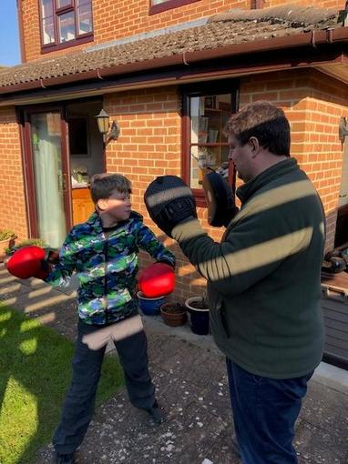 Alex getting his boxing practice in!!