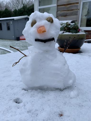 Mrs Soper's mini Snowman!