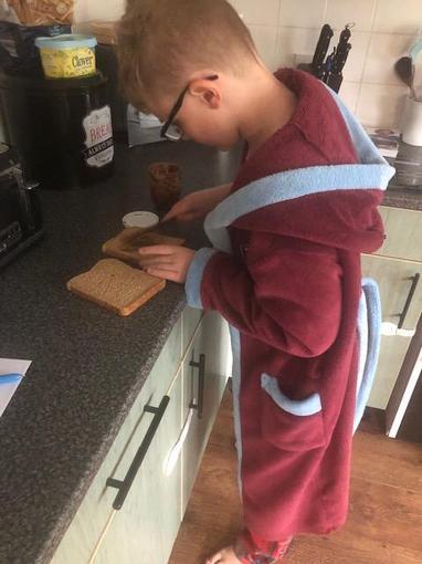 Josh making his lunch challenge!