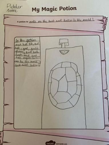 Fletcher has even created a magic potion!