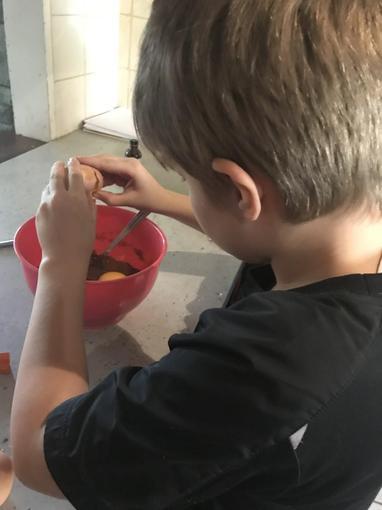 Max making a cake!
