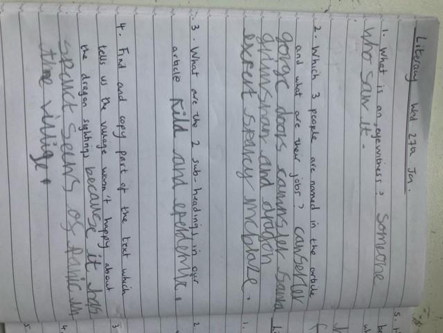 More great Literacy work, from Millie. Great job!