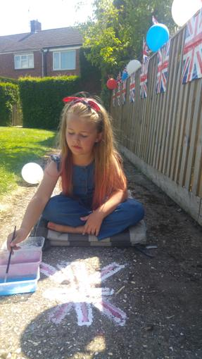 Holly painting with homemade chalk paint