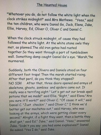 Daniel's Haunted House story p1
