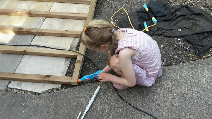 Niamh helped to build a shed