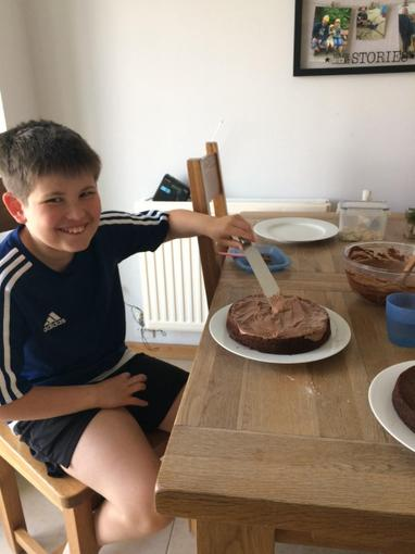 James has also been busy baking...