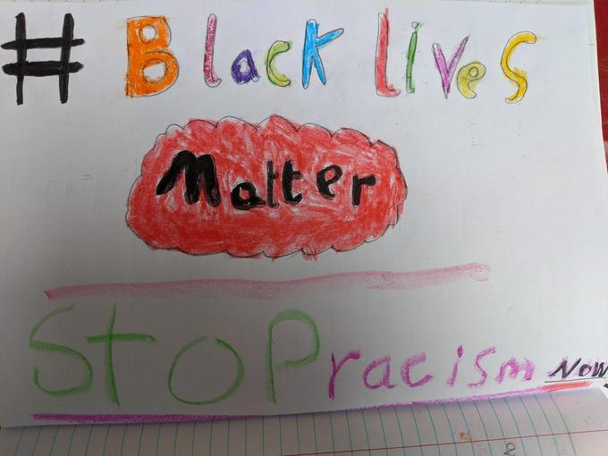 Jemma's very colourful BLM poster
