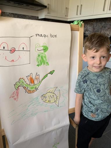 Harrison's picture of his magic box - Reception